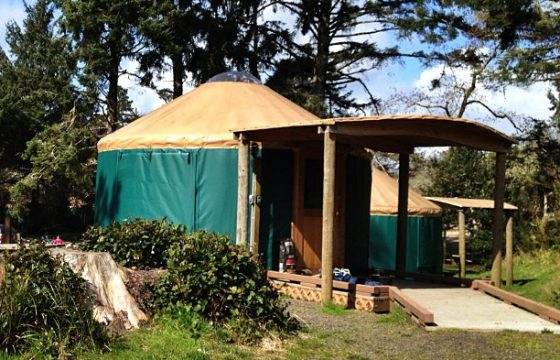 Yurt in sunshine