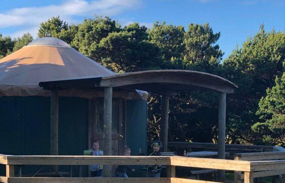 Oregon Coast camping Nehalem Bay yurt